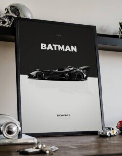 The Dark Knight • Car Art Poster • Rear View Prints